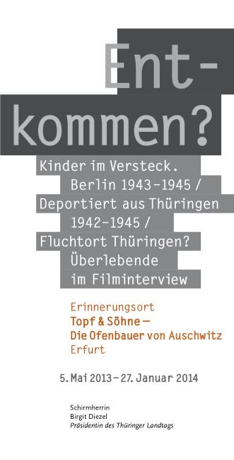 Ofenbauer Berlin faltblatt zur sonderausstellung entkommen 1942 1945 berlin und
