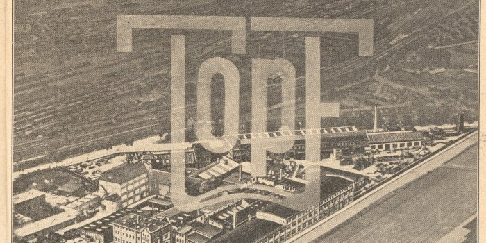 Advertisement, company area about 1935